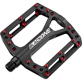 Reverse Black One Pedals black/red